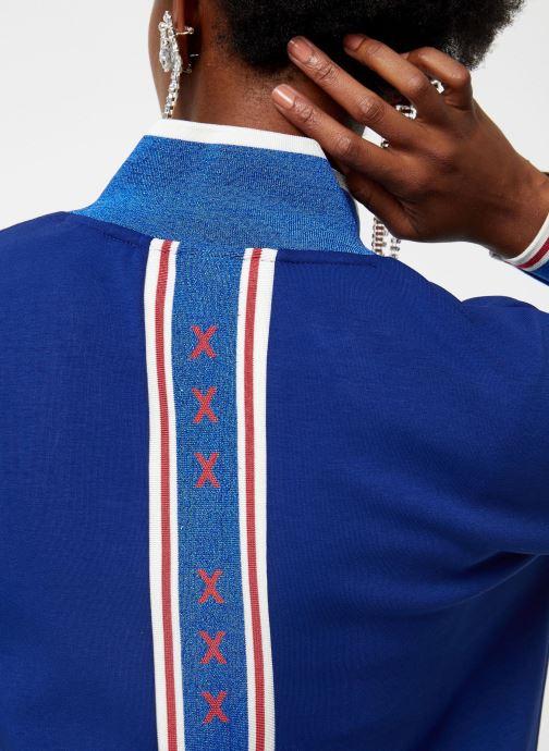 Vêtements Scotch & Soda Sporty jacket in sweat quality Bleu vue face