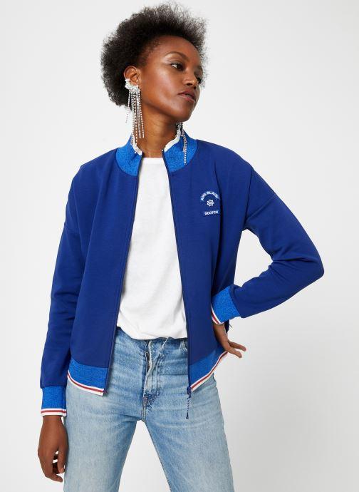 Vêtements Maison Scotch Sporty jacket in sweat quality Bleu vue droite
