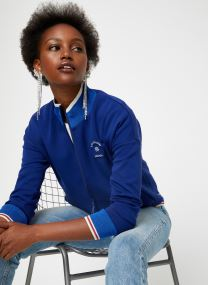 Sporty jacket in sweat quality