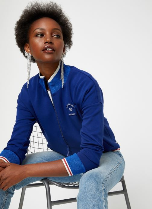 Vêtements Maison Scotch Sporty jacket in sweat quality Bleu vue détail/paire