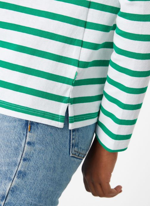 Vêtements Maison Scotch Classic long sleeve breton tee Vert vue face