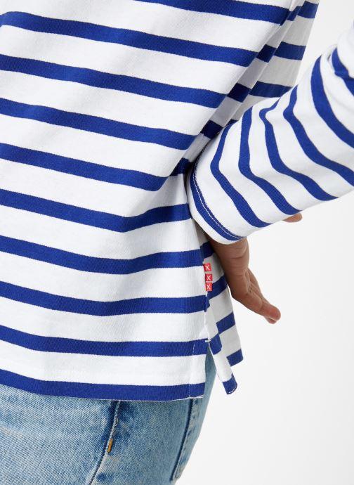 Vêtements Scotch & Soda Classic long sleeve breton tee Bleu vue face