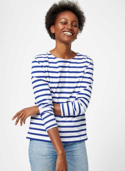 Vêtements Scotch & Soda Classic long sleeve breton tee Bleu vue détail/paire