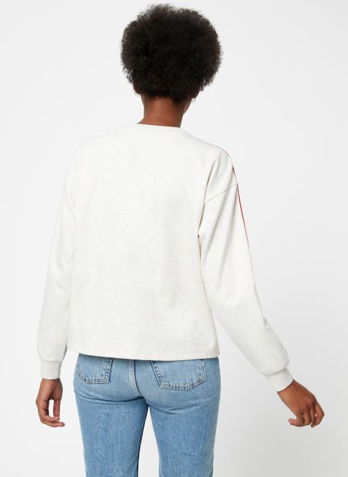 Vêtements Maison Scotch Cropped sweat with stripes on sleeves Beige vue portées chaussures