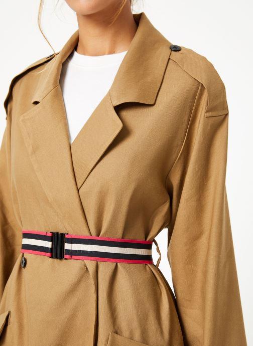 Vêtements Maison Scotch Longer length drapy trench coat comes with a waist-belt Beige vue face