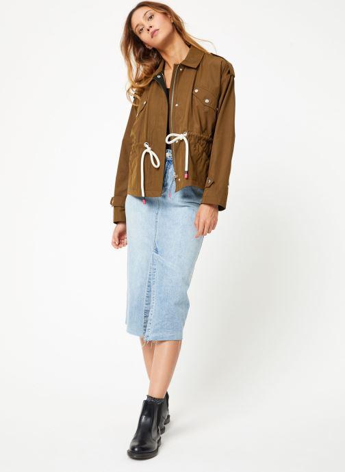 Vêtements Scotch & Soda Loose fit military jacket with special detailing Vert vue bas / vue portée sac