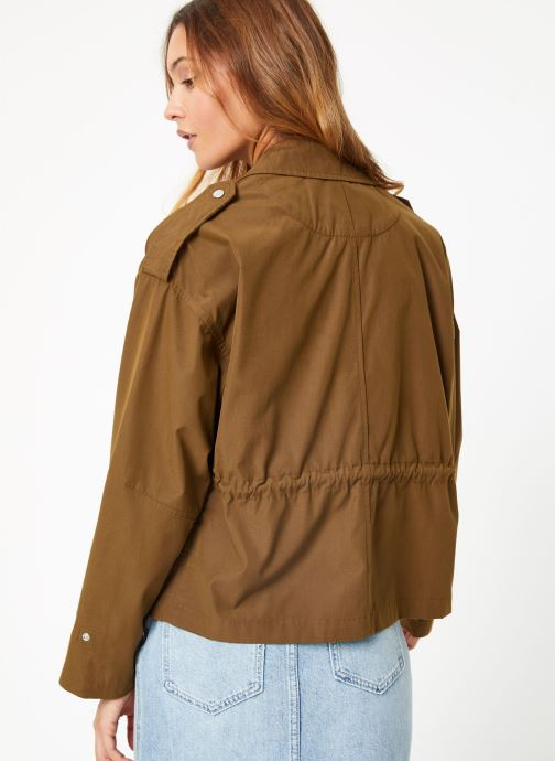 Vêtements Scotch & Soda Loose fit military jacket with special detailing Vert vue portées chaussures