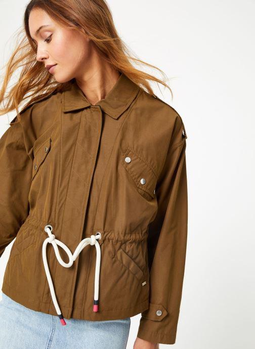 Vêtements Maison Scotch Loose fit military jacket with special detailing Vert vue face
