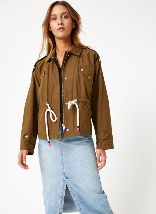 Vêtements Scotch & Soda Loose fit military jacket with special detailing Vert vue droite