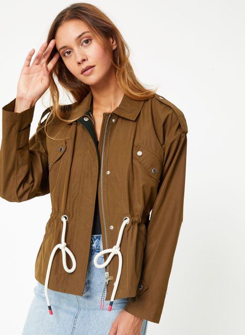 Vêtements Maison Scotch Loose fit military jacket with special detailing Vert vue détail/paire