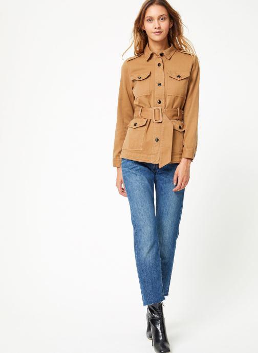 Vêtements Maison Scotch Safari jacket with special detailing Marron vue bas / vue portée sac