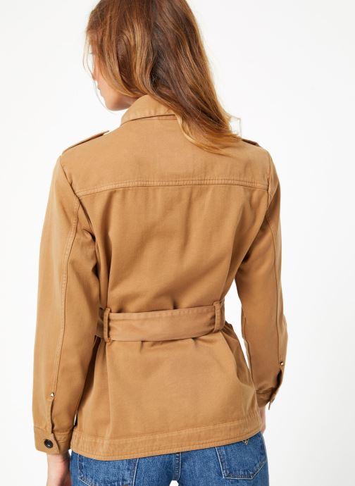 Vêtements Maison Scotch Safari jacket with special detailing Marron vue portées chaussures