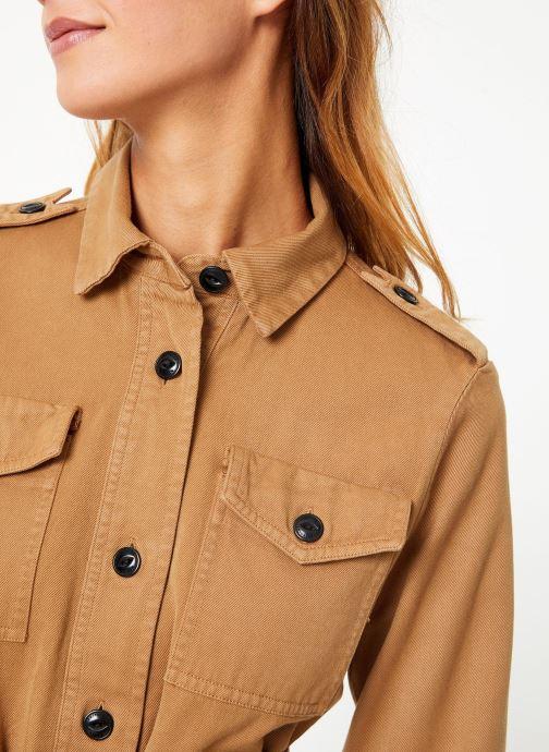 Vêtements Maison Scotch Safari jacket with special detailing Marron vue face