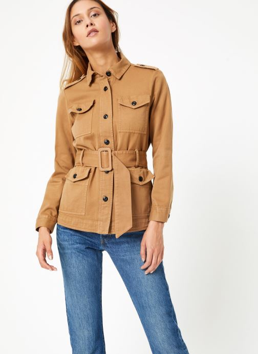 Vêtements Maison Scotch Safari jacket with special detailing Marron vue droite