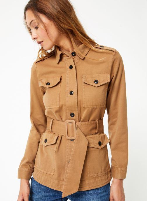 Vêtements Maison Scotch Safari jacket with special detailing Marron vue détail/paire
