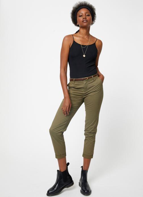Vêtements Scotch & Soda Regular fit Ams Blauw chino with giveaway belt Vert vue bas / vue portée sac