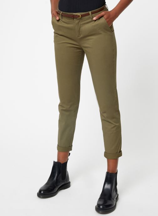 Vêtements Scotch & Soda Regular fit Ams Blauw chino with giveaway belt Vert vue détail/paire