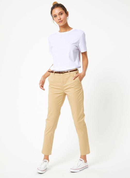 Vêtements Maison Scotch Regular fit Ams Blauw chino with giveaway belt Beige vue bas / vue portée sac