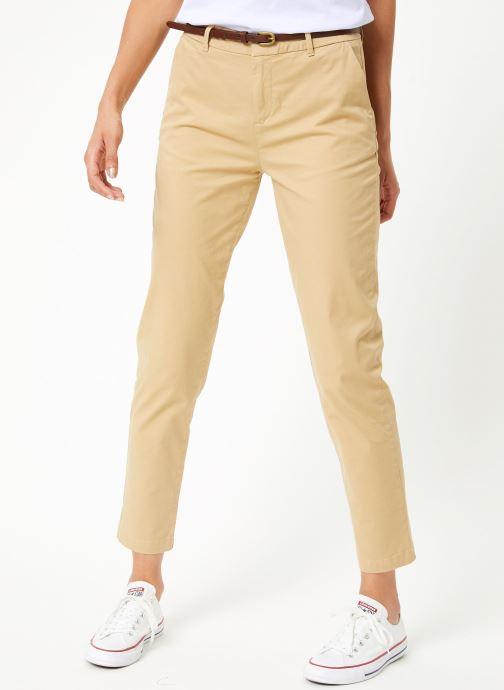 Vêtements Maison Scotch Regular fit Ams Blauw chino with giveaway belt Beige vue détail/paire
