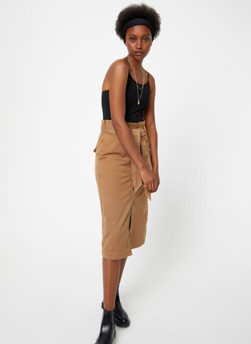 Vêtements Maison Scotch High waisted skirt in drapy quality Beige vue bas / vue portée sac