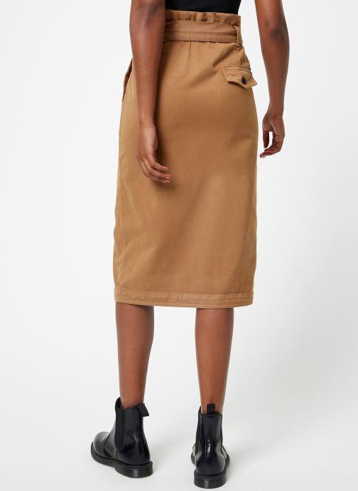 Vêtements Maison Scotch High waisted skirt in drapy quality Beige vue portées chaussures