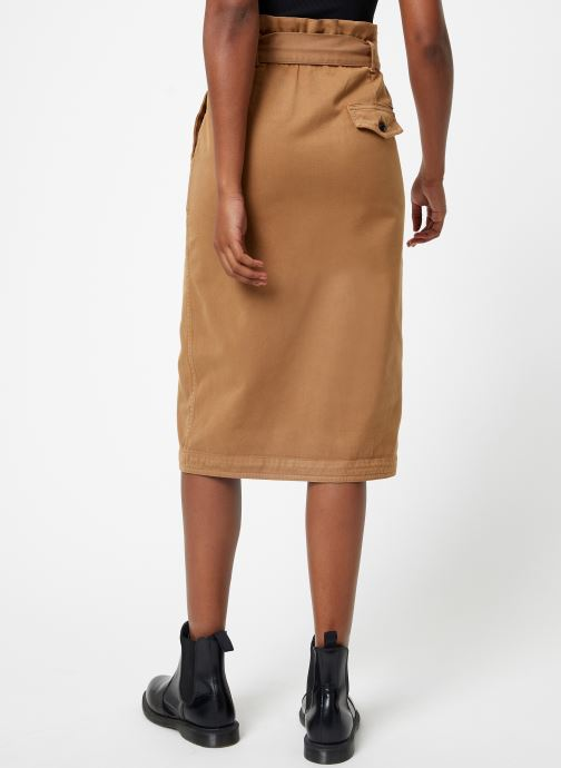 Vêtements Scotch & Soda High waisted skirt in drapy quality Beige vue portées chaussures