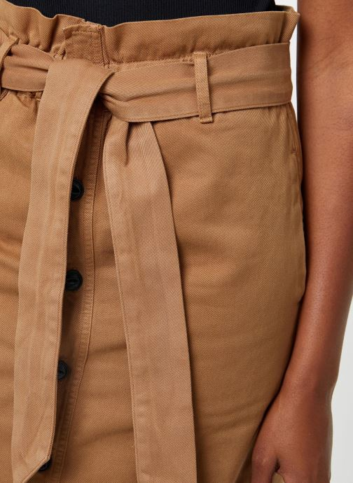 Vêtements Maison Scotch High waisted skirt in drapy quality Beige vue face
