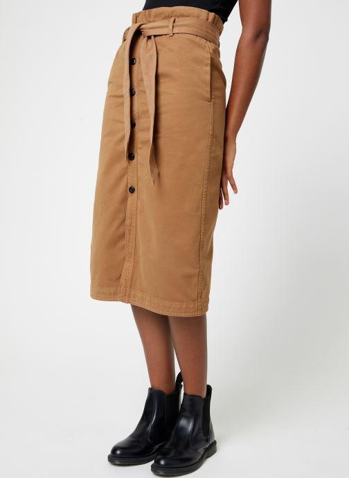 Vêtements Maison Scotch High waisted skirt in drapy quality Beige vue détail/paire