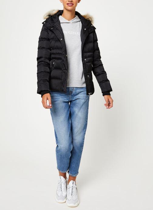 Vêtements Calvin Klein Jeans SHORT DOWN FITTED PUFFER Noir vue bas / vue portée sac
