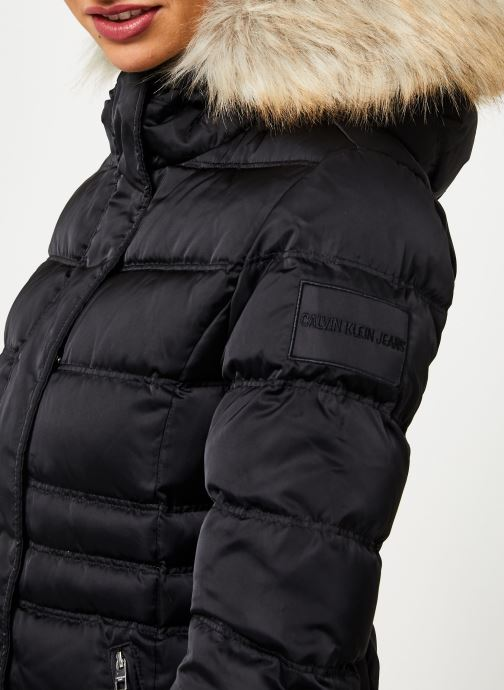 Vêtements Calvin Klein Jeans SHORT DOWN FITTED PUFFER Noir vue face