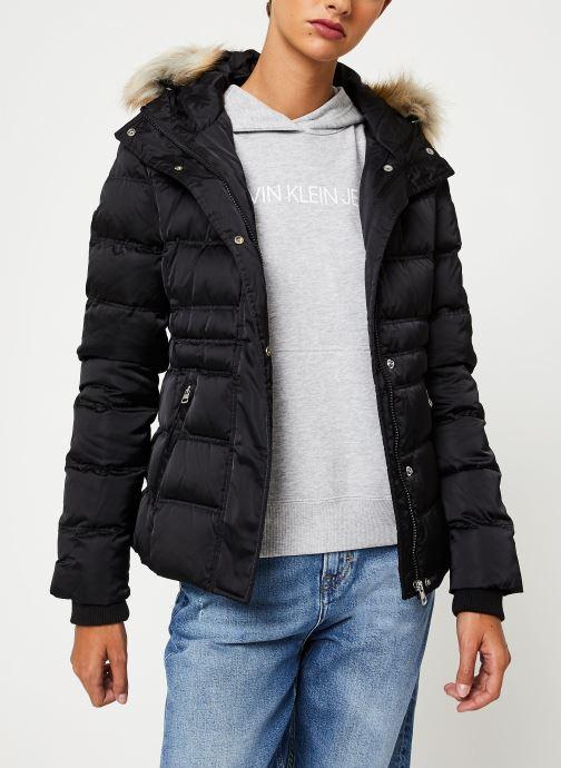 Vêtements Calvin Klein Jeans SHORT DOWN FITTED PUFFER Noir vue droite