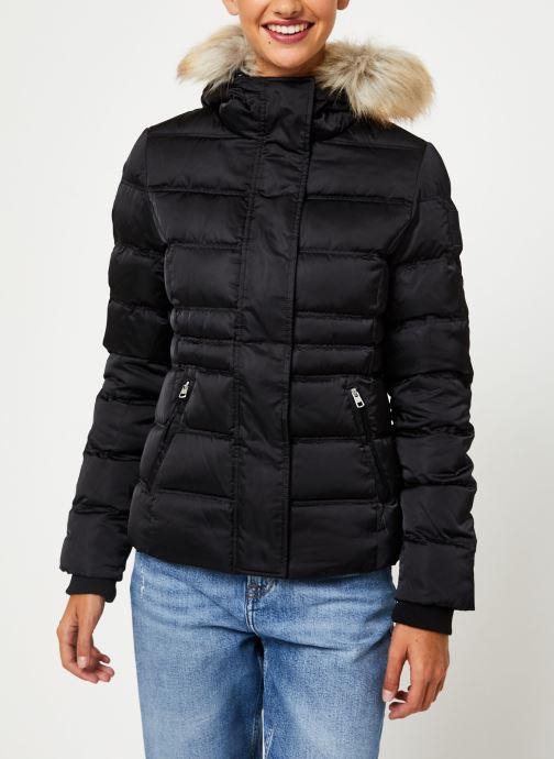 Vêtements Calvin Klein Jeans SHORT DOWN FITTED PUFFER Noir vue détail/paire