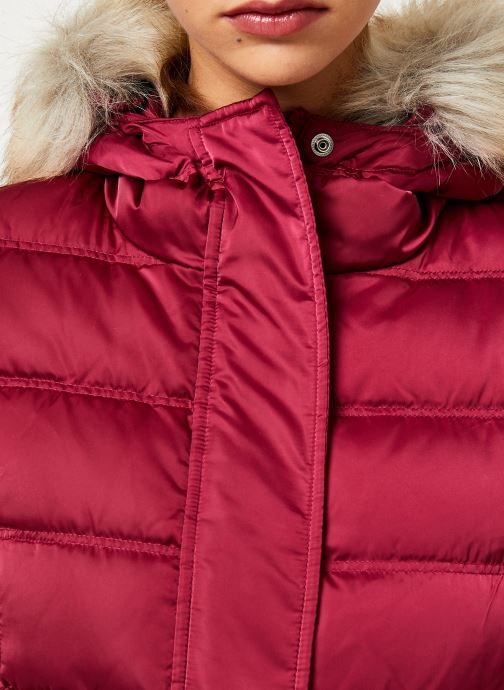 Vêtements Calvin Klein Jeans SHORT DOWN FITTED PUFFER Rouge vue face