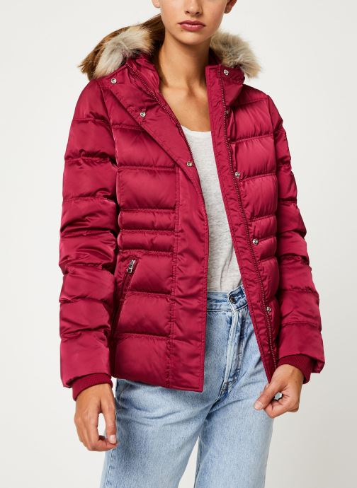 Vêtements Calvin Klein Jeans SHORT DOWN FITTED PUFFER Rouge vue détail/paire