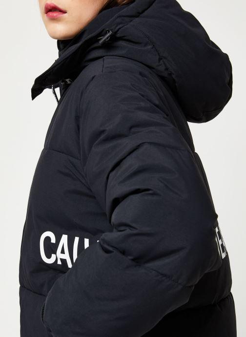 Vêtements Calvin Klein Jeans OVERSIZED LOGO PUFFER Noir vue face