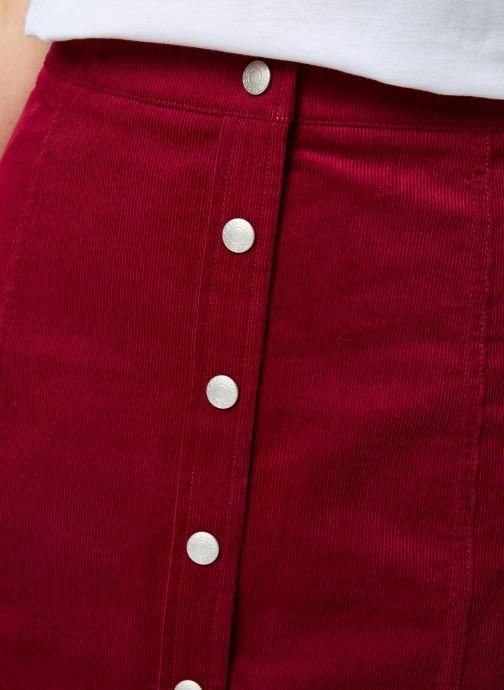 Vêtements Calvin Klein Jeans MINI CORDUROY BUTTON DOWN SKIRT Bordeaux vue face