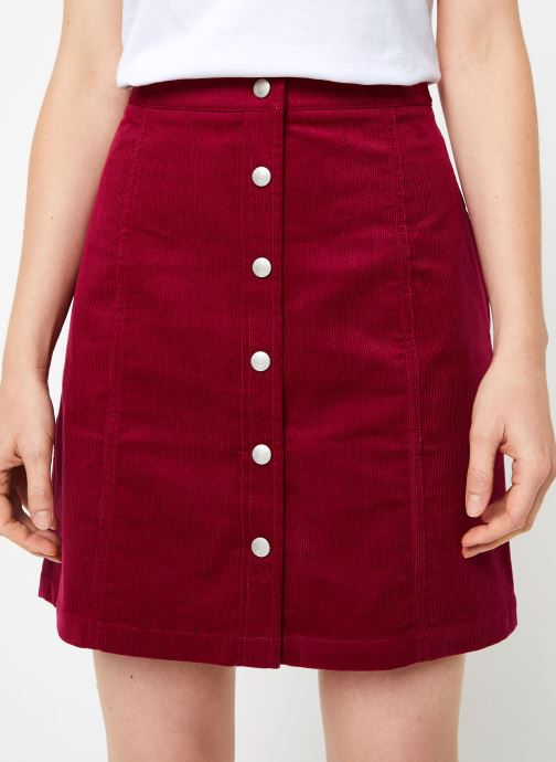 Vêtements Calvin Klein Jeans MINI CORDUROY BUTTON DOWN SKIRT Bordeaux vue détail/paire