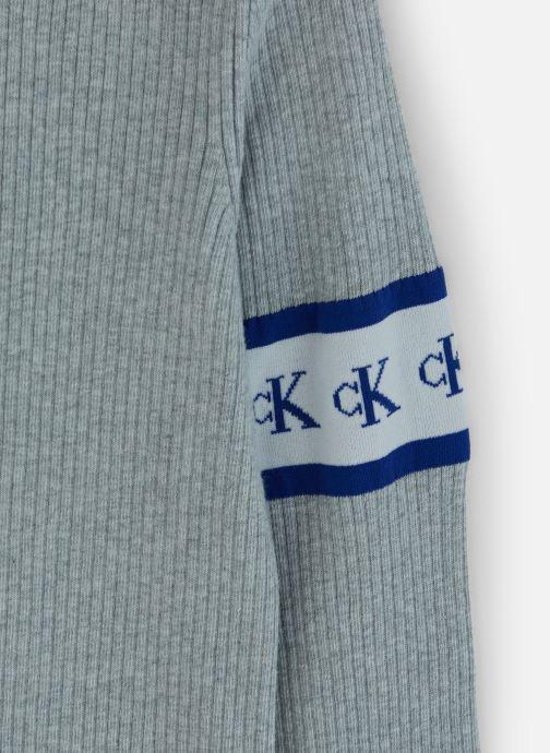 Kleding Calvin Klein Jeans MONOGRAM TAPE SWEATER Grijs model