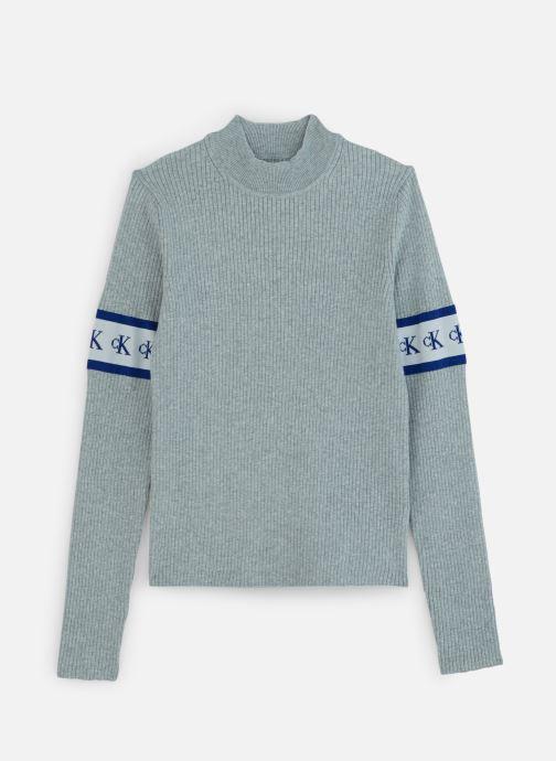 Kleding Calvin Klein Jeans MONOGRAM TAPE SWEATER Grijs detail