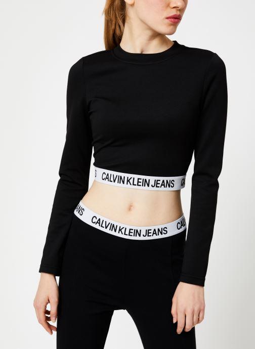 Vêtements Calvin Klein Jeans MILANO LS SLEEVE TOP Noir vue droite