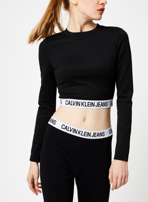 Vêtements Calvin Klein Jeans MILANO LS SLEEVE TOP Noir vue détail/paire
