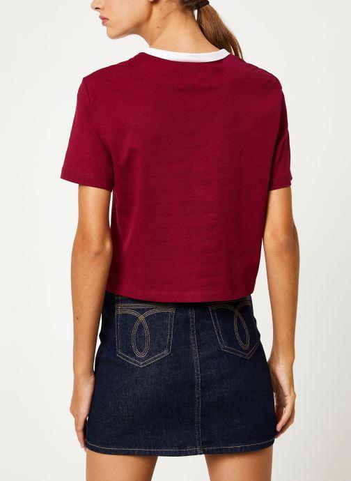 Kleding Calvin Klein Jeans MONOGRAM EMBROIDERY RINGER TEE Bordeaux model