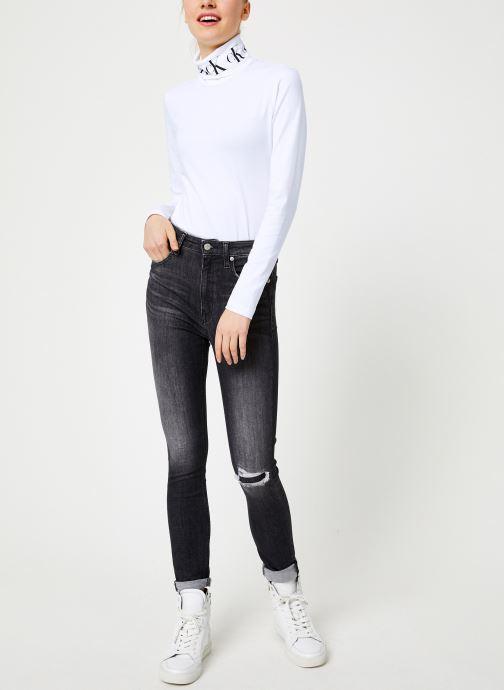 Vêtements Calvin Klein Jeans CKJ 010 HIGH RISE SKINNY Noir vue bas / vue portée sac