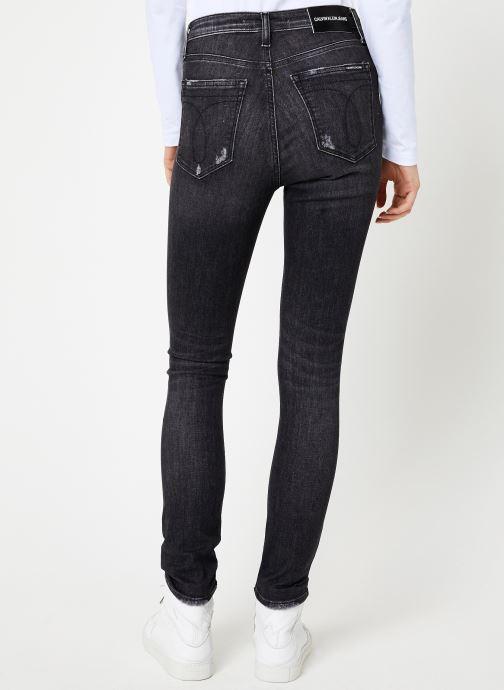 Vêtements Calvin Klein Jeans CKJ 010 HIGH RISE SKINNY Noir vue portées chaussures