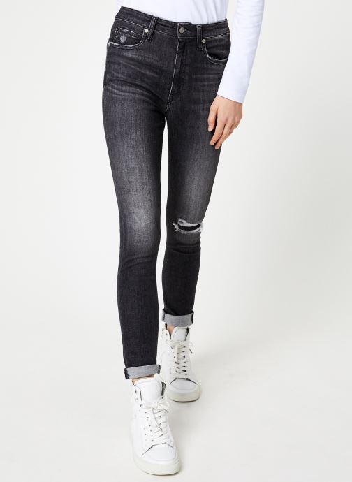 Vêtements Calvin Klein Jeans CKJ 010 HIGH RISE SKINNY Noir vue détail/paire