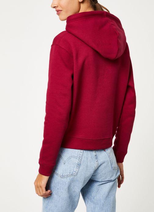 Kleding Calvin Klein Jeans MONOGRAM BOXY HOODIE Bordeaux model