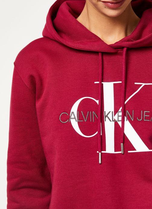 Kleding Calvin Klein Jeans MONOGRAM BOXY HOODIE Bordeaux voorkant