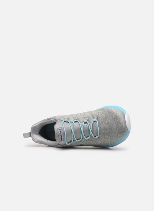 Sport shoes Skechers Dynamight-Break-Through Grey view from the left