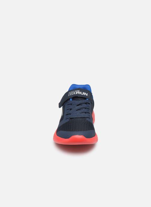 Chaussures de sport Skechers Go Run 600- Roxlo Bleu vue portées chaussures