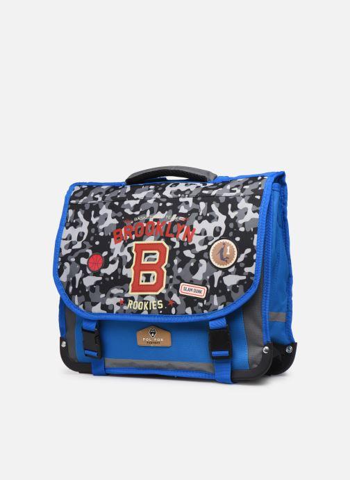 Per la scuola Pol Fox CARTABLE 38CM CLASSIQUE Azzurro modello indossato